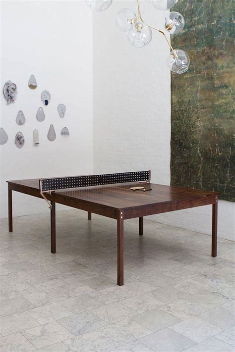 Wood Ping Pong Table by Wooden And Leather Ping Pong Table Fubiz Media