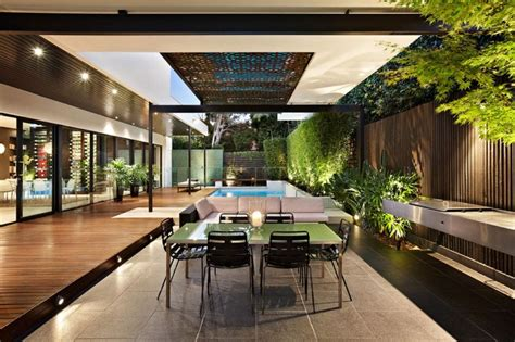 stylish melbourne home dazzles   lavish pool space