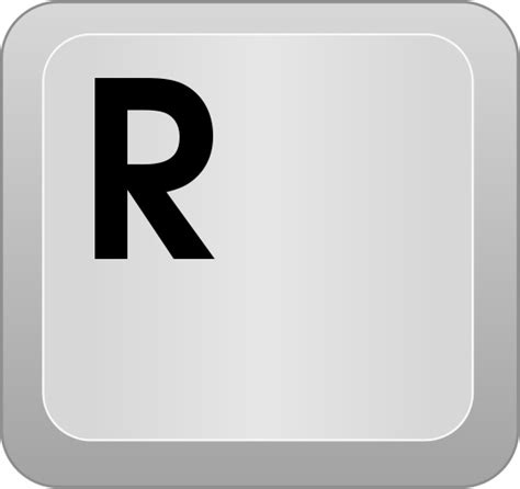 computer key R   /computer/keyboard keys/letters/computer