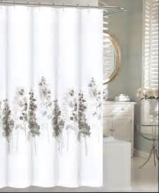 charcoal shower curtain tahari fabric cotton blend shower curtain hollyhock grey