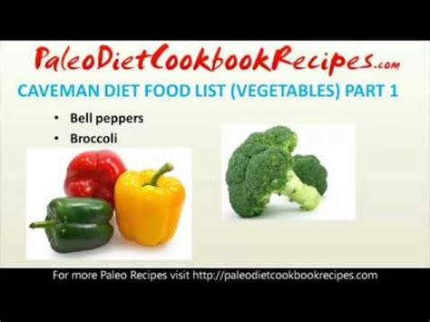 vegetables on paleo diet paleo diet food list vegetables part 1