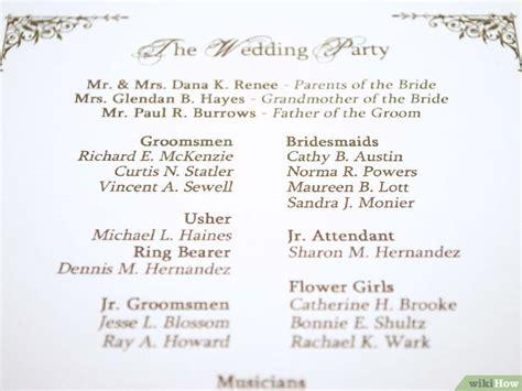 programa de recepcion de boda c 243 mo hacer un programa para ceremonia de boda personalizado