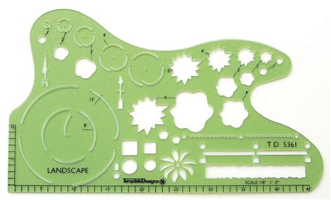 landscape drawing templates alvin td5361 1 8 quot scale landscaping drafting template
