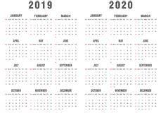 kalender voor  en  vector illustratie illustratie