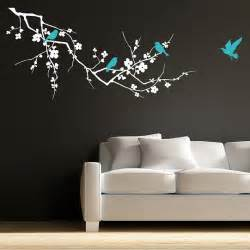 birds on branch wall stickers by parkins interiors tree with hanging bird cage wall sticker wallboss wall