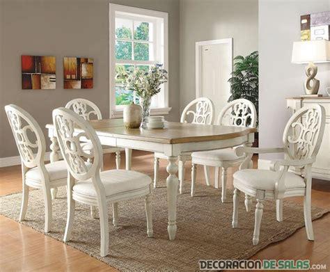 white dining room set la elegancia blanco en el comedor
