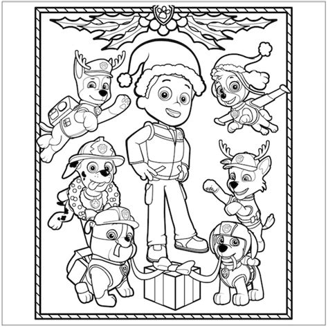 paw patrol christmas coloring pages jpg