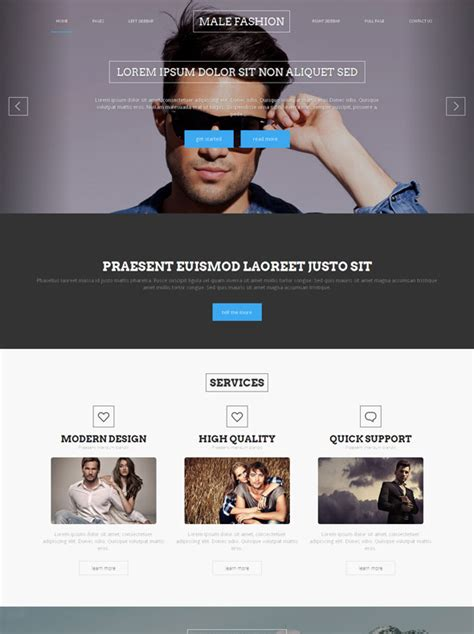 Men S Clothing Site Template Male Fashion Website Templates Dreamtemplate High Fashion Website Templates