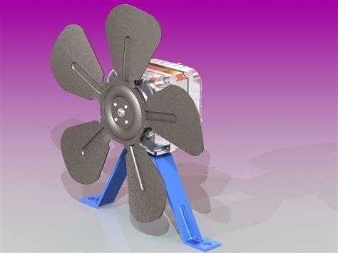 refrigerator fan motor  model sldprt sldasm slddrw