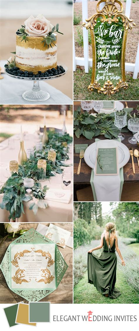 top 5 greenery wedding color combos for 2017 trends