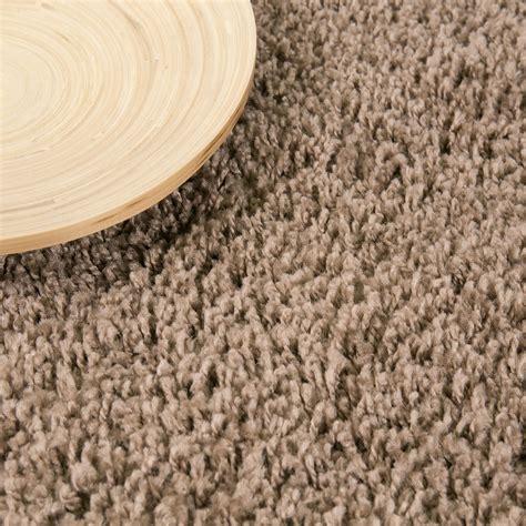 teppich kinderzimmer einfarbig teppich hochflor shaggy teppiche langflor nougat hellbraun
