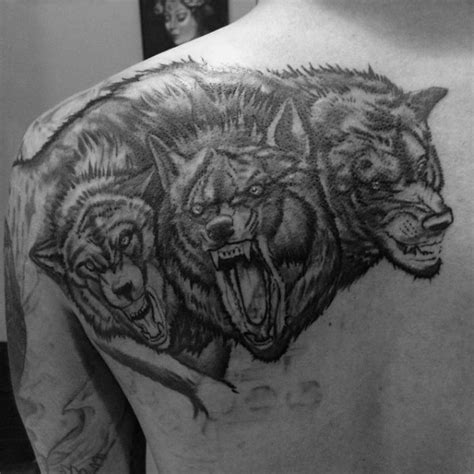 50 cerberus tattoo designs for men three head dog ideas