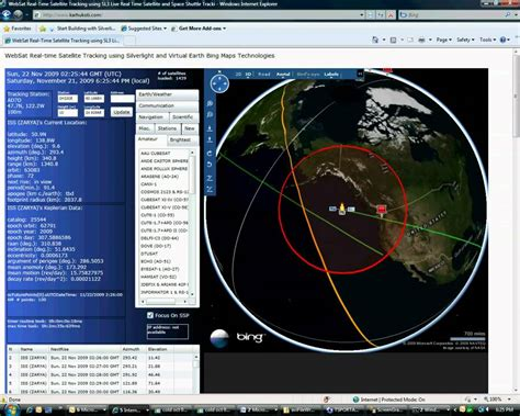 radio satellite tracking program for international