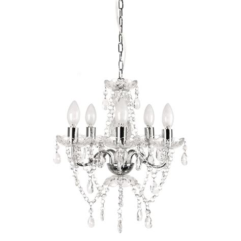 Tadpoles Chandelier Tadpoles 5 Light Chrome And White Chandelier Cch5pl110 The Home Depot