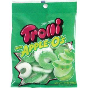 Wtroli Set 4 trolli apple o s gummy 18pc city
