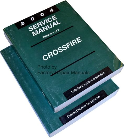 Chrysler Service Manuals by 2004 Chrysler Crossfire Factory Service Manual Set