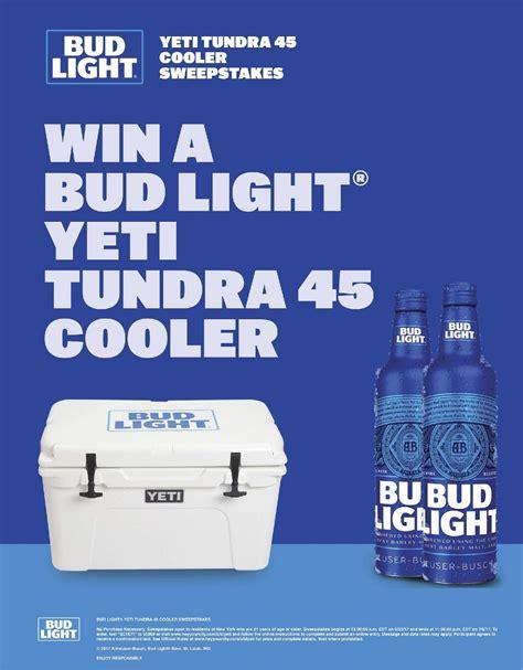Win A Bud Light Yeti Tundra 45 Cooler King Kullen