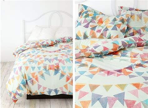 bedding like urban outfitters black white yellow ditsy pennants bedding from urban