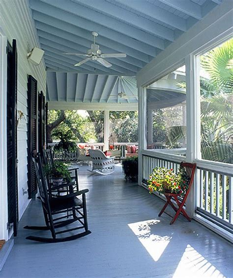 Blue Porch Ceilings blue porch ceiling lowcountry cottage
