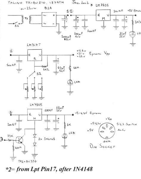 schemi alimentatori programmatore di eprom schema alimentatore