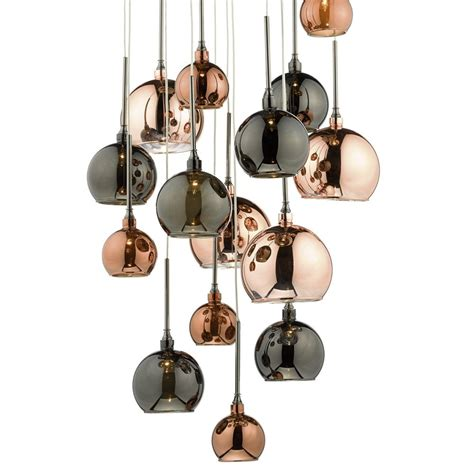copper pendant light uk dar aur1564 aurelia 15 light bronze copper cluster