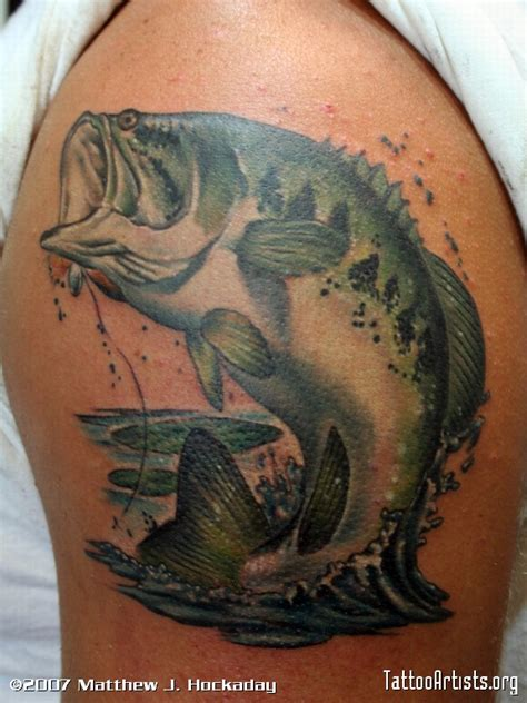 bass fishing tattoos large bass artists org