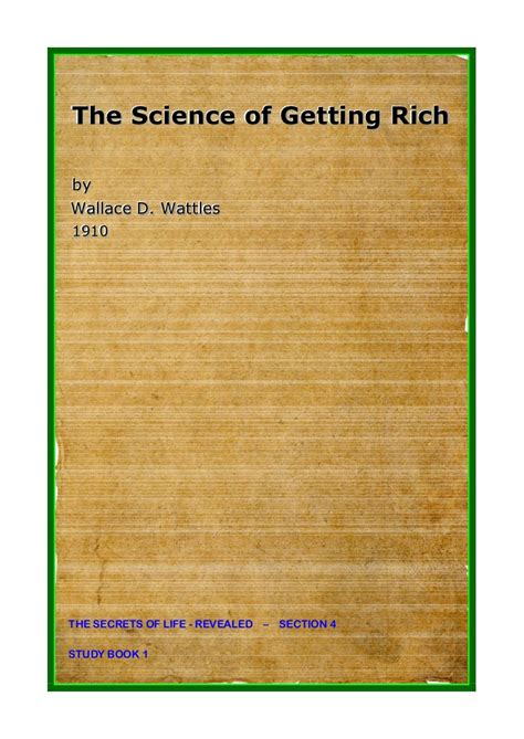 The Science Of Getting Rich 1 the science of getting rich by wallace d wattles