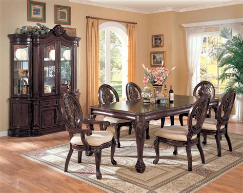 7pc dining room sets weston 7pc size 42x60 dining table with 6 wood seat chairs