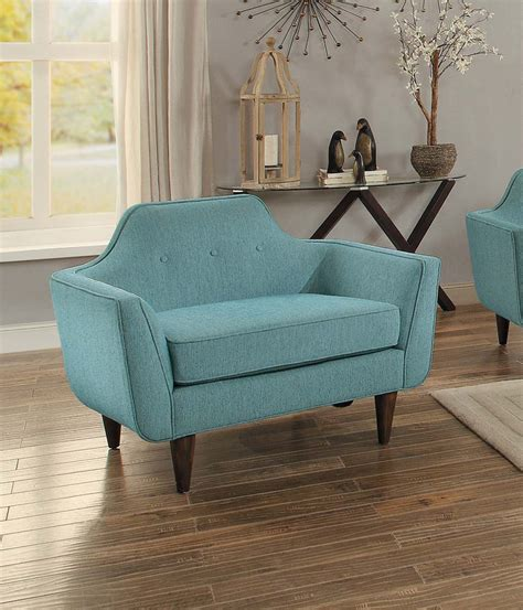 homelegance ajani sofa set teal fabric 8379tl sofa set