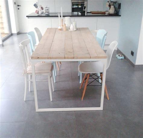 tafel op maat laten maken belgie sloophouten en steigerhouten meubelen op maat gemaakt