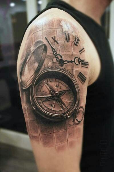 29 best 3d compass tattoo images on pinterest tattoo