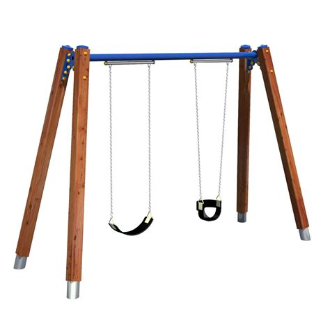 swing swung timber meridian swing play works