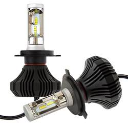 Led Light Bulbs Headlights Led Headlight Kit H4 Led Fanless Headlight Conversion Kit With Compact Heat Sink Led