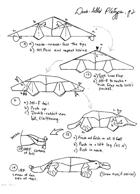 origami animals diagrams images