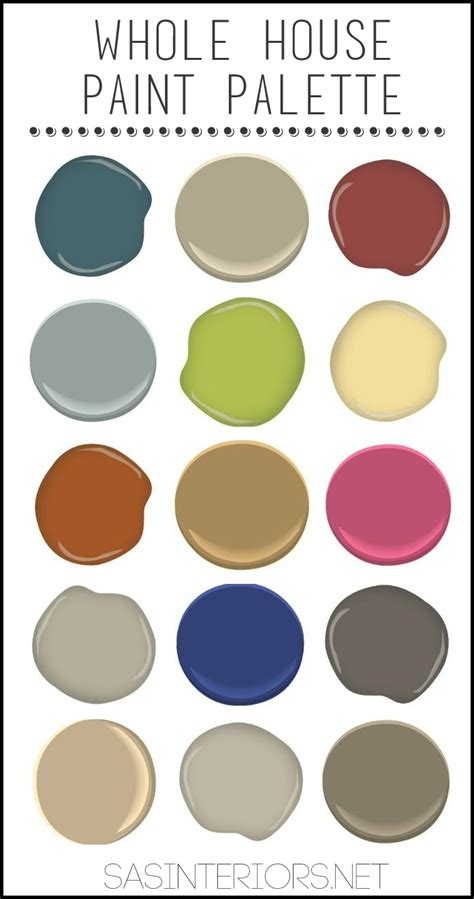 whole house color palette paint colors in my home jenna burger