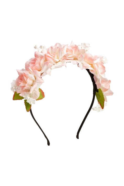 Sehm04 Set Hm Pink Flower Flower hairband with flowers light pink sale h m us