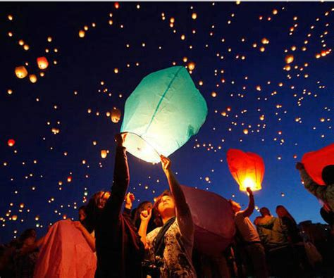How To Make Paper Sky Lanterns - 10pcs sale multicolors paper sky lanterns flying paper