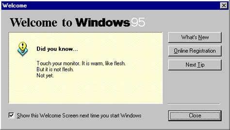 Joke Of The Day Hypnotist Error by Windows 95 Tips Tricks And Tweaks