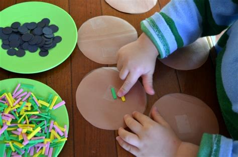 cookie crafts sticky cookie craft simple play ideas