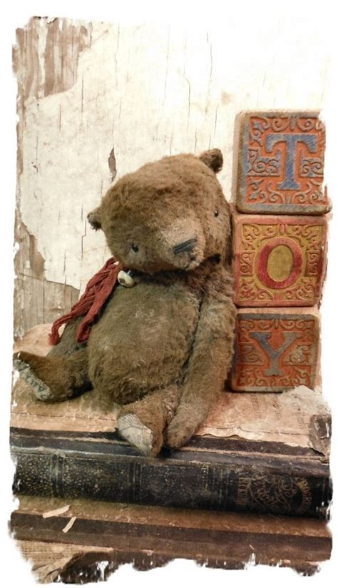 Style Glossary Teddy by Antique Style 5 Quot Aged Worn Vintage