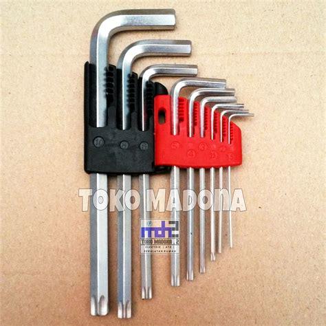 Kunci L Bintang Lippro jual kunci l set panjang stamvick 9 pcs 1 5mm 10mm