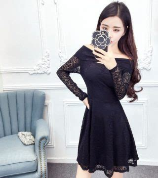 Sabrina Dress Hitam Variasi Import 2094 dress sabrina wanita warna hitam brukat model terbaru jual murah import kerja
