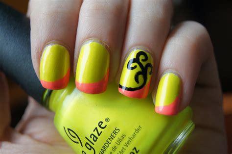 neon nail designs acrylic nail designs