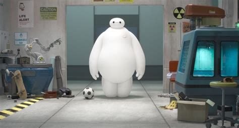 film robot baymax first look at a balloon robot in disney marvel s big hero