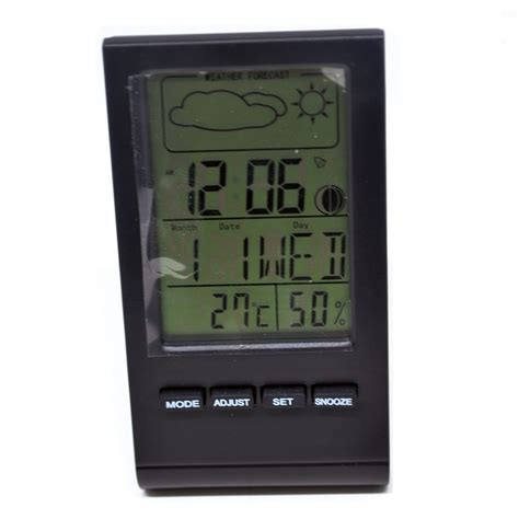 digital multifunction thermometer and hygrometer with clock alarm date week calender dth 22