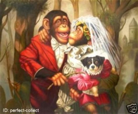 Monkey For Your Wedding by Painting Portrait Of The Monkey Wedding 24x36 Quot In