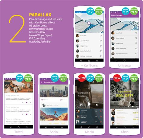 material design listview header ui android elements using google s material design