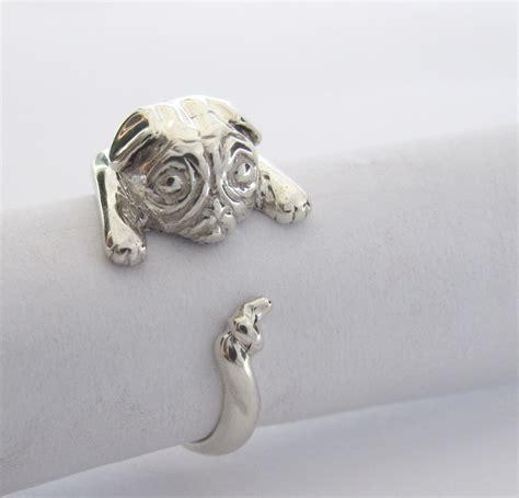 silver pug ring sterling silver pug wraparound ring goldfish jewellery design studio
