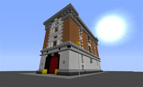 minecraft fire ghostbusters firehouse in minecraft minecraft project