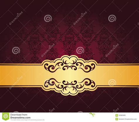 vintage seamless damask wallpaper stock vector image